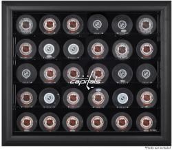 Washington Capitals 30-Puck Black Display Case
