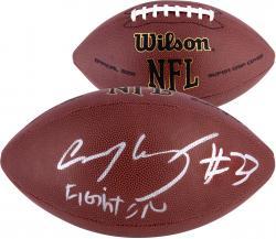 Fanatics Authentic Autographed Chauncey Washington USC Trojans Replica Football with Fight On Inscription