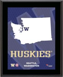 "Washington Huskies Sublimated 10.5"" x 13"" State Plaque"