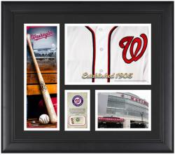 """Washington Nationals Team Logo Framed 15"""" x 17"""" Collage with Piece of Game-Used Ball"""