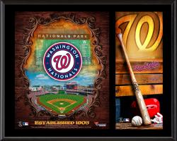 "Washington Nationals Sublimated 12"" x 15"" Team Logo Plaque"