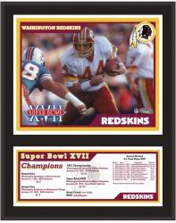 """Washington Redskins 12"""" x 15"""" Sublimated Plaque - Super Bowl XVII"""