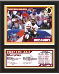 "Washington Redskins 12"" x 15"" Sublimated Plaque - Super Bowl XXII"