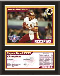 "Washington Redskins 12"" x 15"" Sublimated Plaque - Super Bowl XXVI"