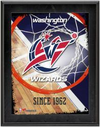 "Washington Wizards Team Logo Sublimated 10.5"" x 13"" Plaque"