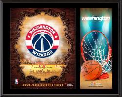 "Washington Wizards Sublimated 12"" x 15"" Team Logo Plaque"