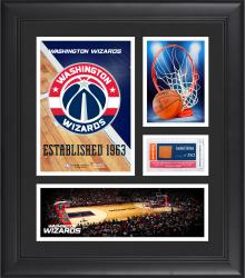 "Washington Wizards Team Logo Framed 15"" x 17"" Collage with Team-Used Baseketball"