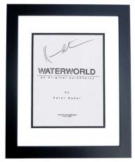 WATERWORLD Autographed Script by Kevin Costner BLACK CUSTOM FRAME