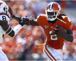 Sammy Watkins Clemson Tigers Autographed 16'' x 20'' Stiff Arm Photograph - Mounted Memories
