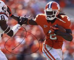 Sammy Watkins Clemson Tigers Autographed 8'' x 10'' Stiff Arm Photograph - Mounted Memories
