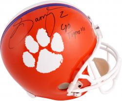 Sammy Watkins Clemson Tigers Autographed Riddell Replica Helmet with Go Tigers Inscription - Mounted Memories