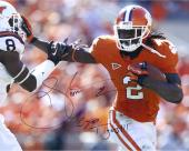 Sammy Watkins Clemson Tigers Autographed 16'' x 20'' Stiff Arm Photograph with Go Tigers Inscription - Mounted Memories