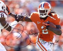 "Sammy Watkins Clemson Tigers Autographed 8"" x 10"" Stiff Arm Photograph with Go Tigers Inscription"
