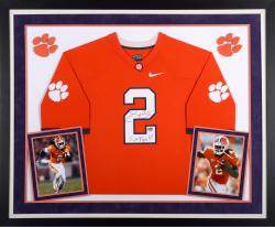 Sammy Watkins Clemson Tigers Autographed Framed Orange Jersey with Go Tigers Inscription