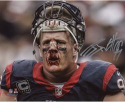"J.J. Watt Houston Texans Autographed 8"" x 10"" Broken Nose Photograph"