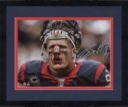 """Framed J.J. Watt Houston Texans Autographed 8"""" x 10"""" Broken Nose Photograph"""