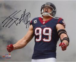 "J.J. Watt Houston Texans Autographed 8"" x 10"" Coming Out of Smoke Photograph"