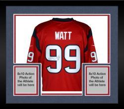 Framed J.J. Watt Houston Texans Autographed Nike Limited Red Jersey