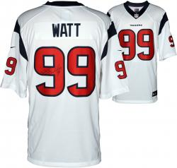 J.J. Watt Houston Texans Autographed Nike Limited White Jersey