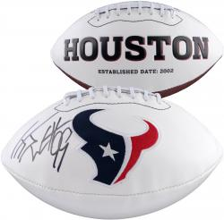 J.J. Watt Houston Texans Autographed White Panel Football - Mounted Memories