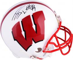J.J. Watt Wisconsin Badgers Autographed Riddell Pro-Line Authentic Helmet - Mounted Memories