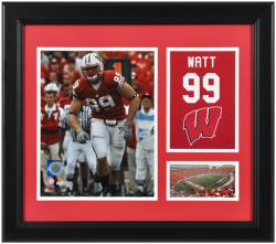 "J.J. Watts Wisconsin Badgers Framed 15"" x 17"" Campus Legend Collage"