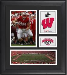 "JJ Watt Wisconsin Badgers Framed 15"" x 17"" Collage"