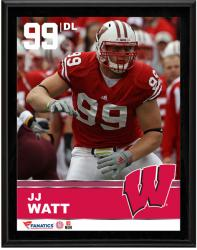 "JJ Watt Wisconsin Badgers Sublimated 10.5"" x 13"" Plaque"