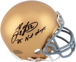 Ricky Watters Notre Dame Fighting Irish Autographed Riddell Mini Helmet with 88 Natl Champs Inscription - Mounted Memories