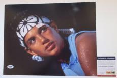 WAX ON WAX OFF!!! Ralph Macchio DANIEL SON Signed KARATE KID 11x14 Photo #2 PSA