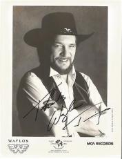 Waylon Jennings Music Legend Signed Autographed 8x10 Promo B/w Photo W/coa Rare