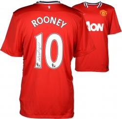 Wayne Rooney Manchester United Autographed 2013-14 Home Jersey - Signed on Back