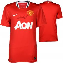 Wayne Rooney Manchester United Autographed 2013-14 Home Jersey - Signed on Front