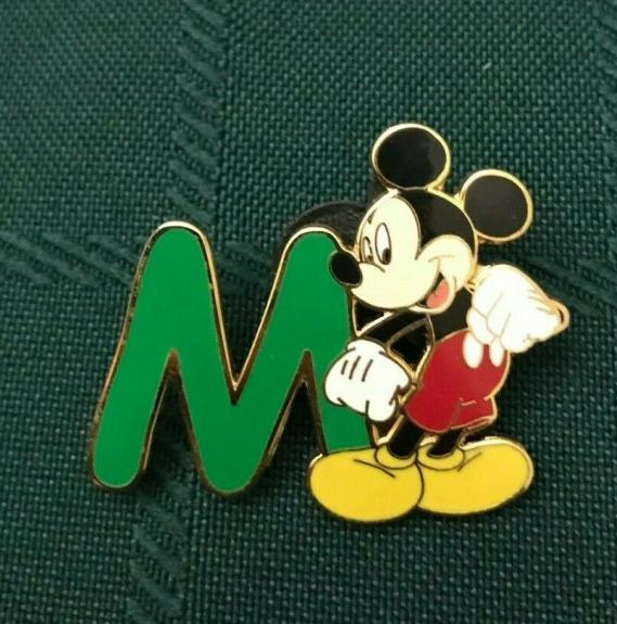 Wdw Disney World 2002 Mickey Mouse Letter M Collectible Pin Authentic Rare B