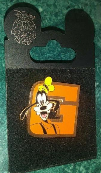 Wdw Disney World Goofy G Letter Collectible Pin Authentic Rare