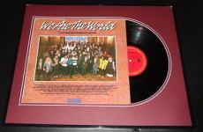 We Are the World Framed Original 1985 Record Album Display Michael Jackson