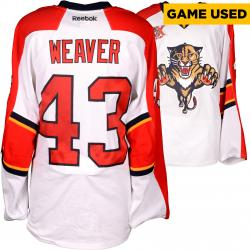 Mike Weaver Florida Panthers Game-Used 2013-14 Set 1 White Jersey