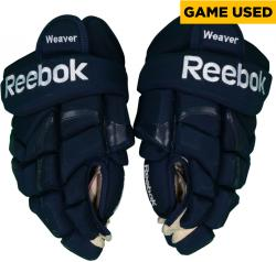 Mike Weaver Florida Panthers Game-Used Pair Reebok Pro Hockey Gloves - Mounted Memories