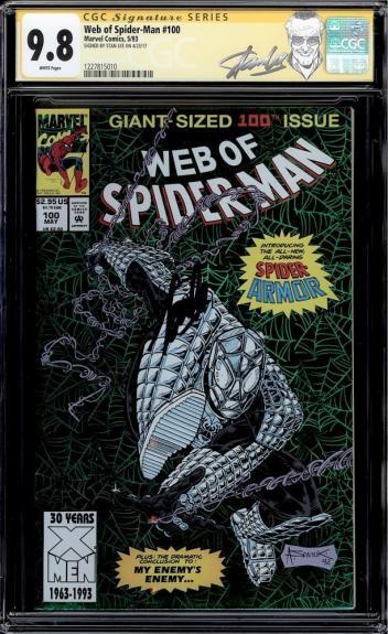 Web Of Spider-man #100 Cgc 9.8 White Ss Stan Lee 1st Spider- Armor #1227815010