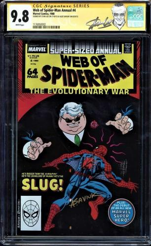 Web Of Spider-man Annual #4 Cgc 9.8 Ss 2x's Stan Lee And Sayiuk Cgc #1176950002