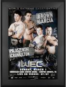 "WEC 39 Brown vs. Garcia Framed Autographed 27"" x 39"" 22-Signature Poster"