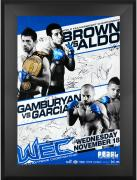 "WEC 44 Brown vs. Aldo Framed Autographed 27"" x 39"" 20-Signature Poster"