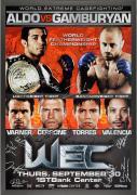 "WEC 51 Aldo vs. Gamburyan Framed Autographed 27"" x 39"" 22-Signature Poster"