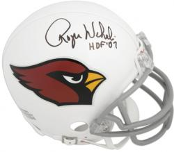 "Roger Wehrli St. Louis Cardinals Autographed Riddell Mini Helmet with ""HOF 07"" Inscription - Mounted Memories"