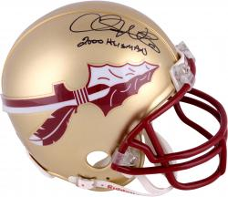 Fanatics Authentic Autographed Chris Weinke Florida State Seminoles Riddell Mini Helmet with 2000 Heisman Inscription