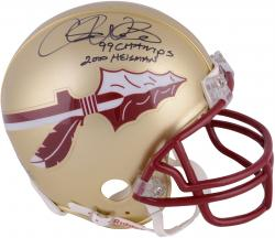 Fanatics Authentic Autographed Chris Weinke Florida State Seminoles Riddell Mini Helmet with Multiple Inscription