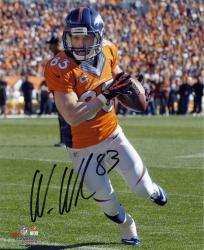 """Wes Welker Denver Broncos Autographed 8"""" x 10"""" Vertical Run Photograph"""