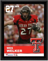 """Wes Welker Texas Tech Red Raiders Sublimated 10.5"""" x 13"""" Plaque"""