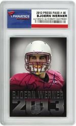 Bjoern Werner Florida State Seminoles Autographed 2013 Press Pass #46 Draft Card