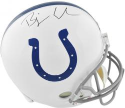 Bjoern Werner Indianapolis Colts Autographed Riddell Replica Helmet